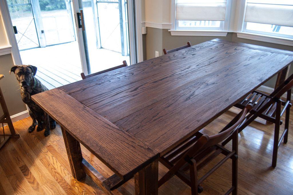 Red Oak Farmhouse Table Oak Farmhouse Table Kitchen Table Oak