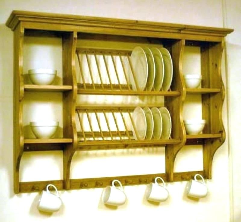 Plate Rack Plans Building Wooden Plate Rack Wall Mounted
