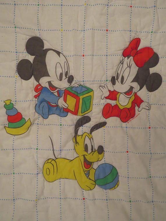 Vintage Mickey Mouse Crib Comforter Crib Comforter Vintage