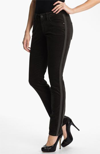 Jag Jeans 'Brielle' Tuxedo Stripe Velvet Slim Jeans (Petite) available at #Nordstrom