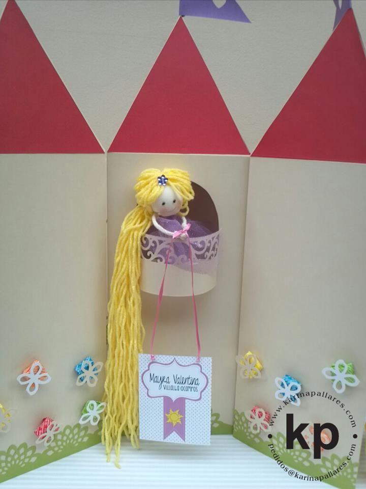 Rapunzel - Centro de mesa personalizado