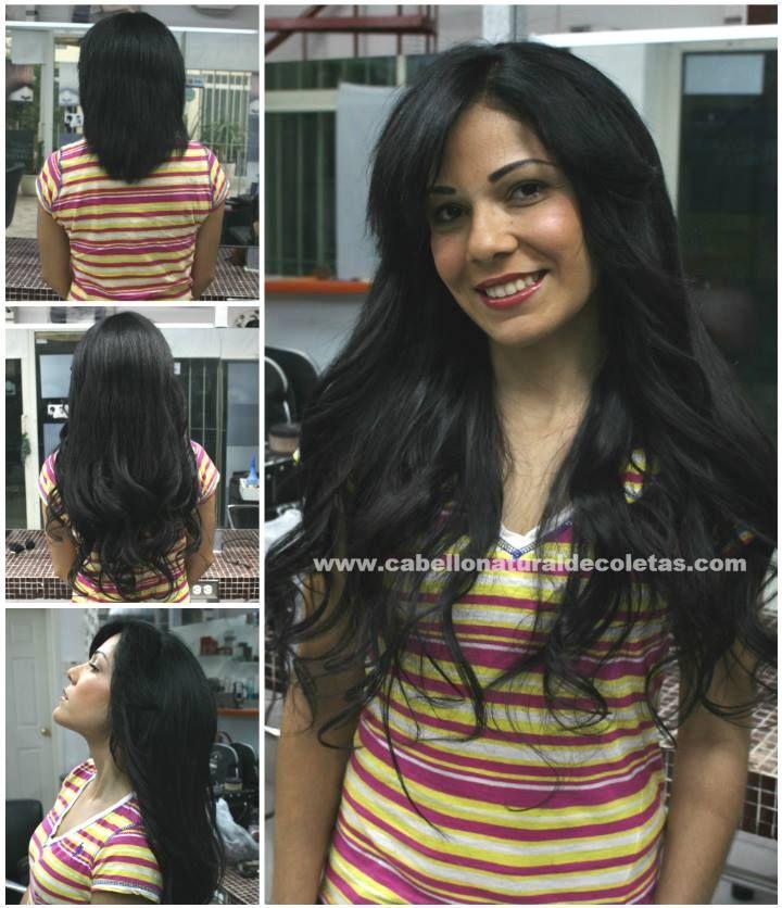 Extensiones de cabello natural, nuevo antes y después...