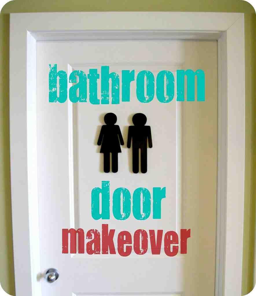 decorative bathroom door signs | bathroom door sign