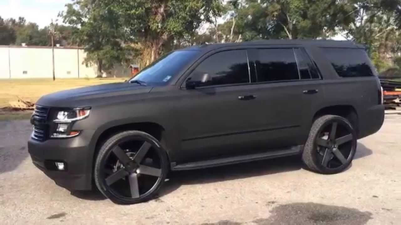 black matte chevrolet tahoe 2015 car goals pinterest chevrolet tahoe chevrolet and cars. Black Bedroom Furniture Sets. Home Design Ideas