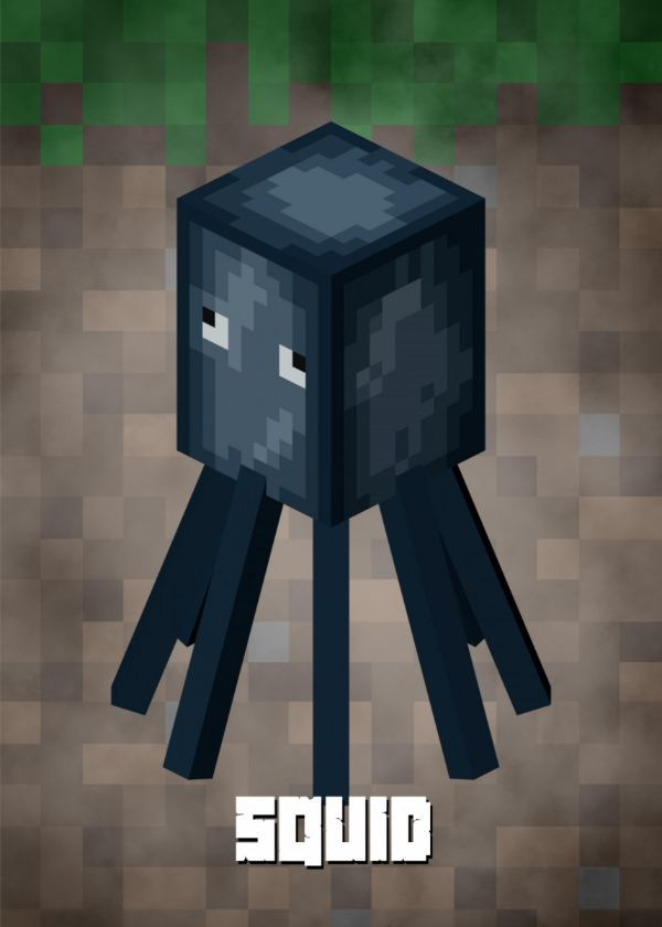 Minecraft Mob Characters Displate Posters