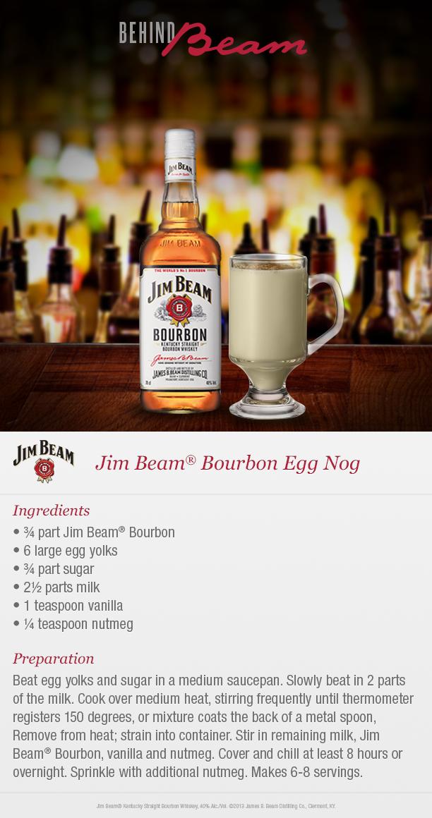 Bourbon Kentucky Bourbon Whiskey Jim Beam Christmas Drinks Alcohol Recipes Eggnog Recipe Drinks Alcohol Recipes
