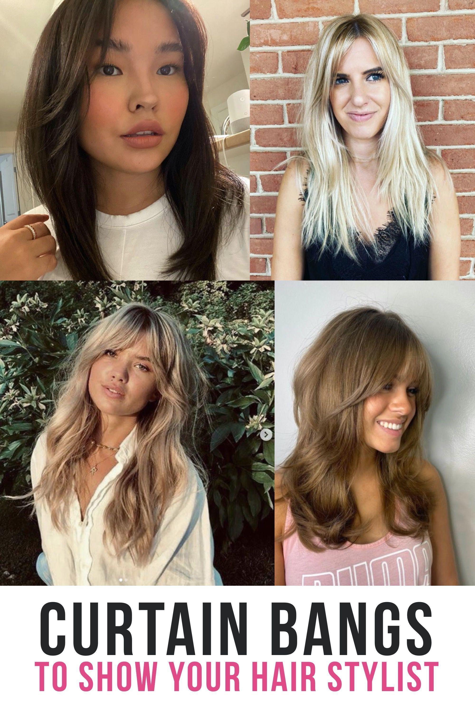 20 Curtain Bangs Hair Styles That Will Make You Want To Schedule A Hair Appointmen Medium Length Hair With Bangs Haircuts For Wavy Hair Bangs With Medium Hair