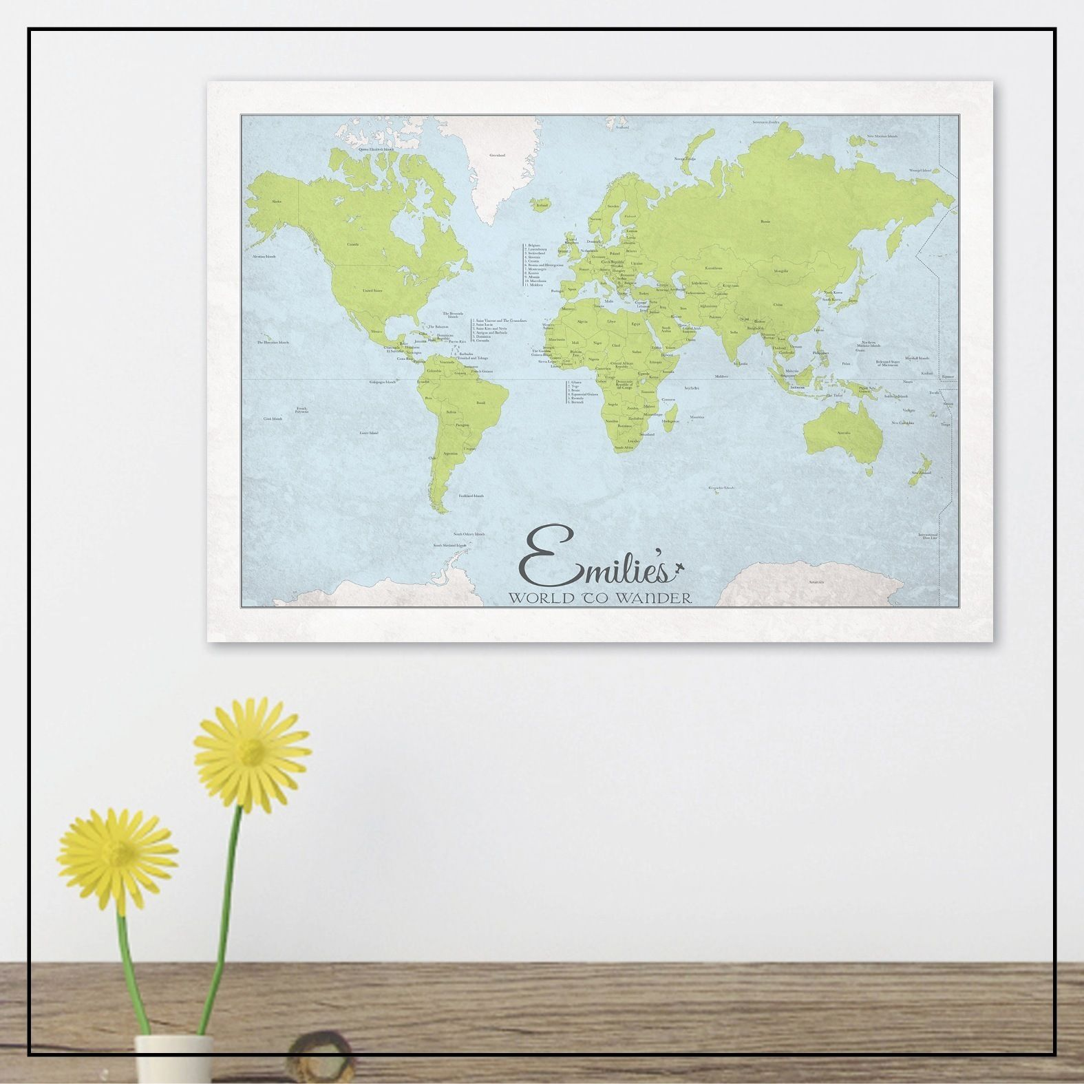 Home interior design maps custom world to wander map by may and belle  kids activity room