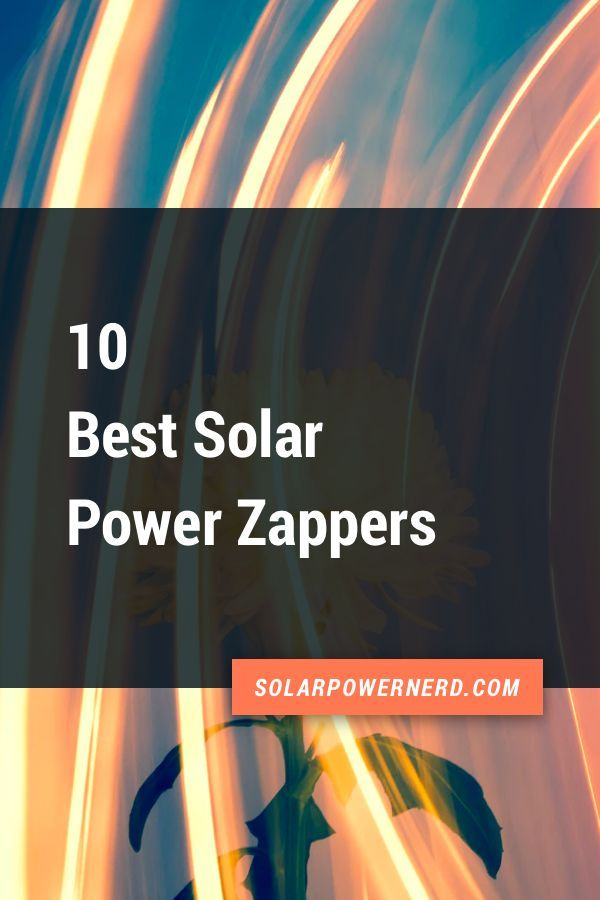 10 Best Solar Bug Zappers  Their Reviews Updated 2019 10 best solar bug zappers and their reviews Protect your house or your garden from termites or bugs without the need...