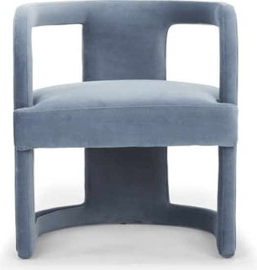 See The Depuy Barrel Chair Upholstery Dust Blue Browse Luxury Furniture Online