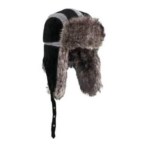 c91dff52c7725 Black Trapper Hat Men s Women s Winter Ear Flap Cap Leather Faux Fur  Hunting New