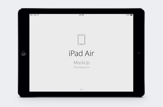 ipad air psd vector mockup (psd) | design: mockups and frames, Powerpoint templates