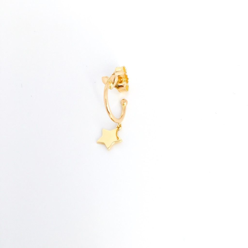mini hoop earring with star