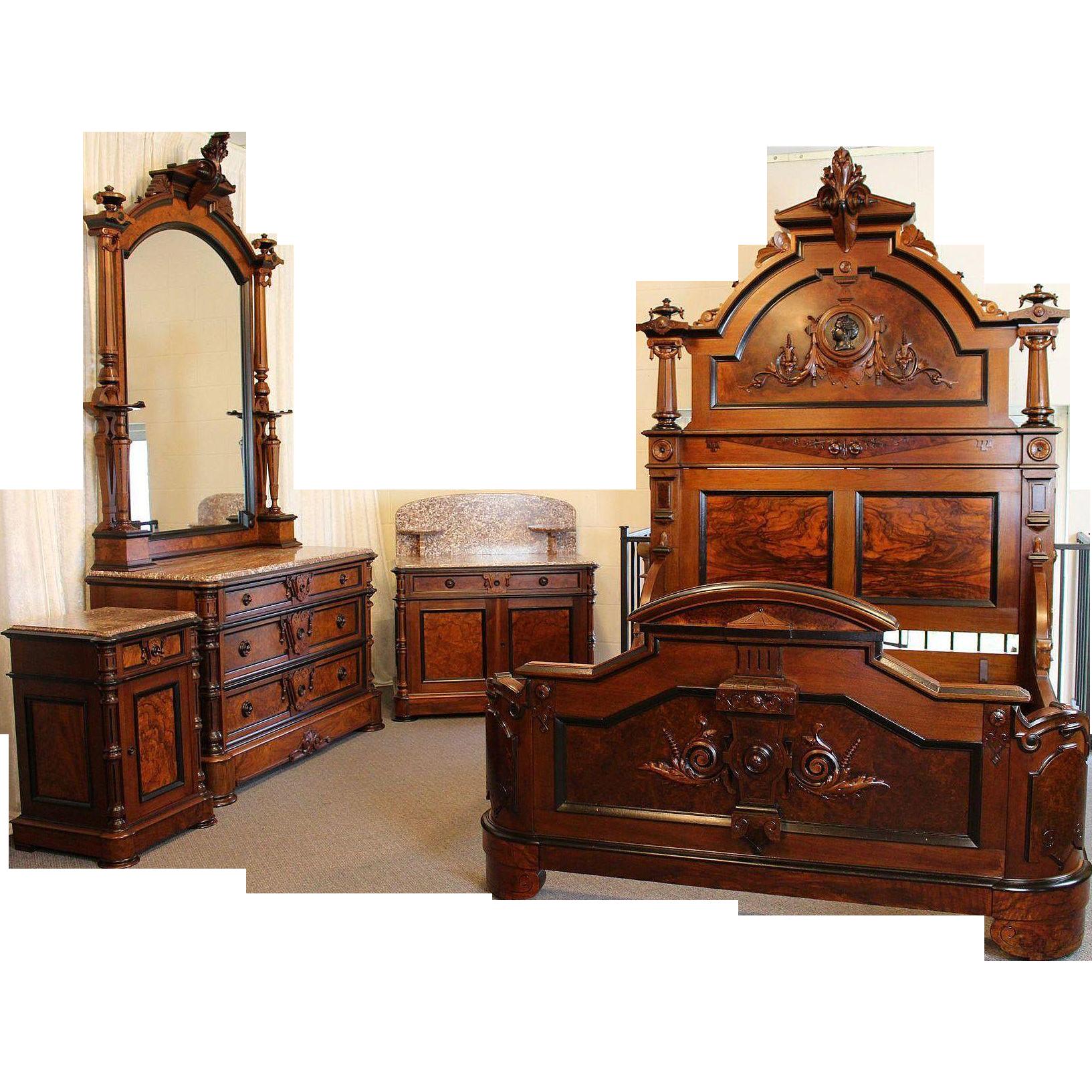 Victorian Bedroom: American Victorian Bedroom Suite C. 1870's Renaissance