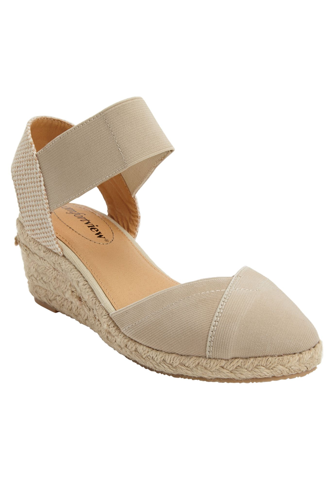 8dd94be45cf0 This espadrille with an elastic upper and ankle strap is comfortable and  supportive