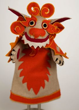 Made in Tibet, these guys have spiffy orange or turquoise manes. Snow lion hand puppet, $35, rmanyc.org.
