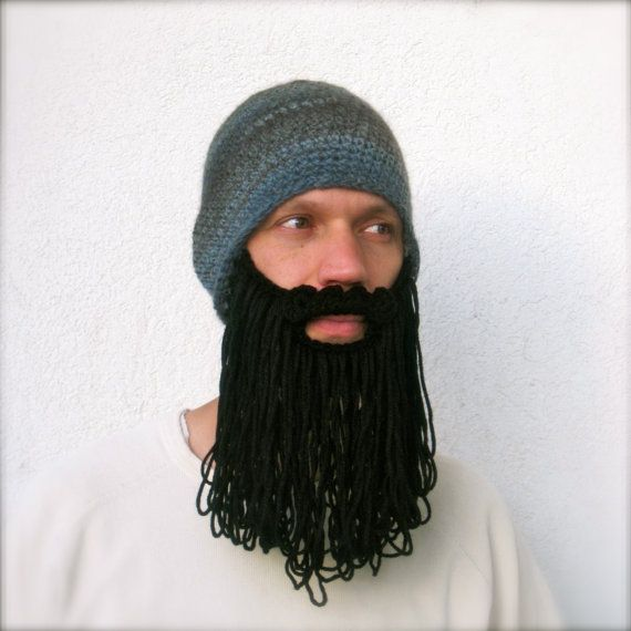 6efb04fe9ae shaggy beard beanie grey print with black beard by taraduff