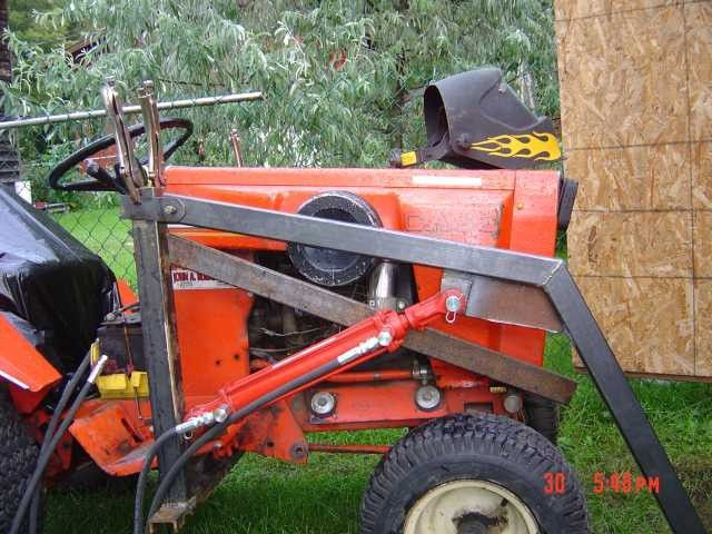Homemade case ingersoll front end loader lawn mower forums lawnmower reviews repair for Small garden tractors with front end loaders