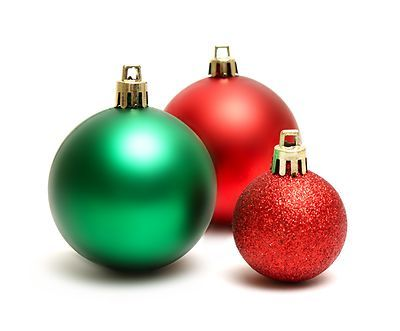 Christmas Ornaments Green And Red Christmas Ornaments Isolated On A White Background Red Christmas Ornaments Christmas Ornaments Christmas Colors