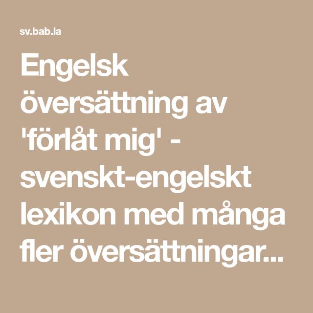 Babla engelska svenska