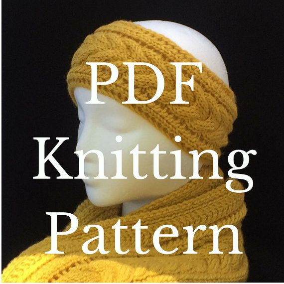 Knitting pattern headband cable knit headband knitting pattern knitting pattern headband cable knit headband knitting pattern handknit ear warmer knitting pattern dt1010fo