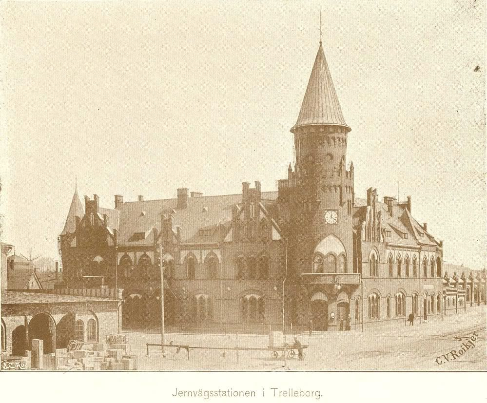 Järnvägsstationen i Trelleborg