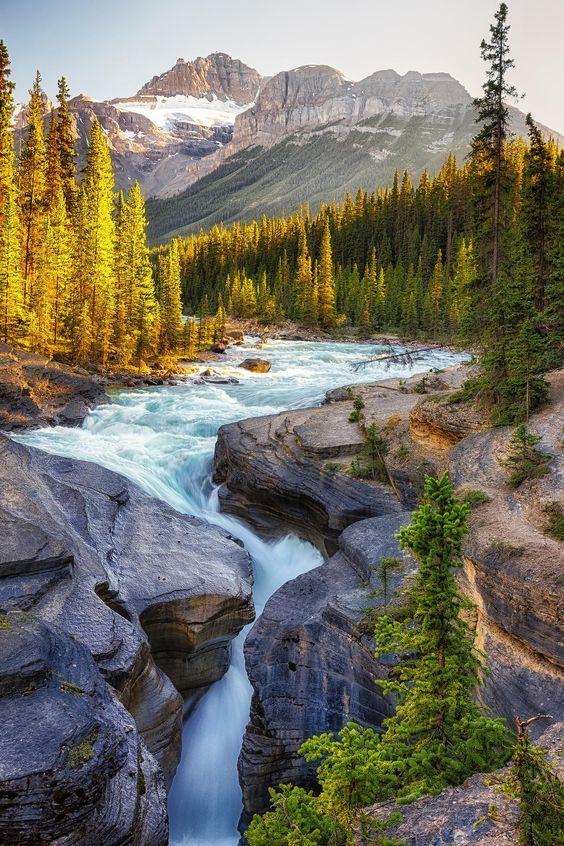 Mistaya Canyon, Canadian rockies #scenery