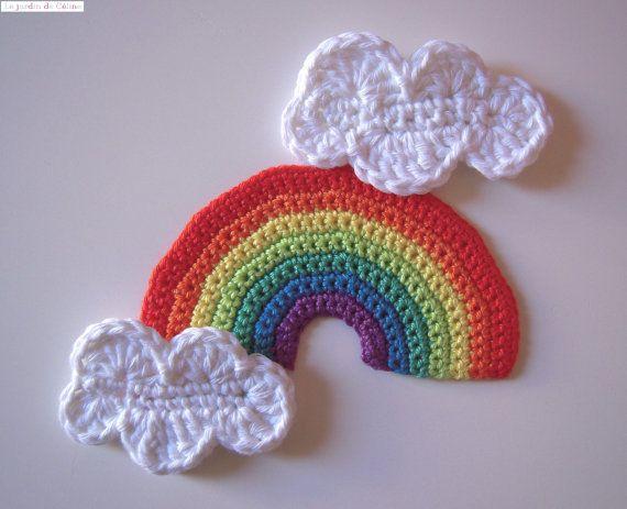 Knitting Pattern for un arc-en-ciel de l/'espoir pendaison décoration