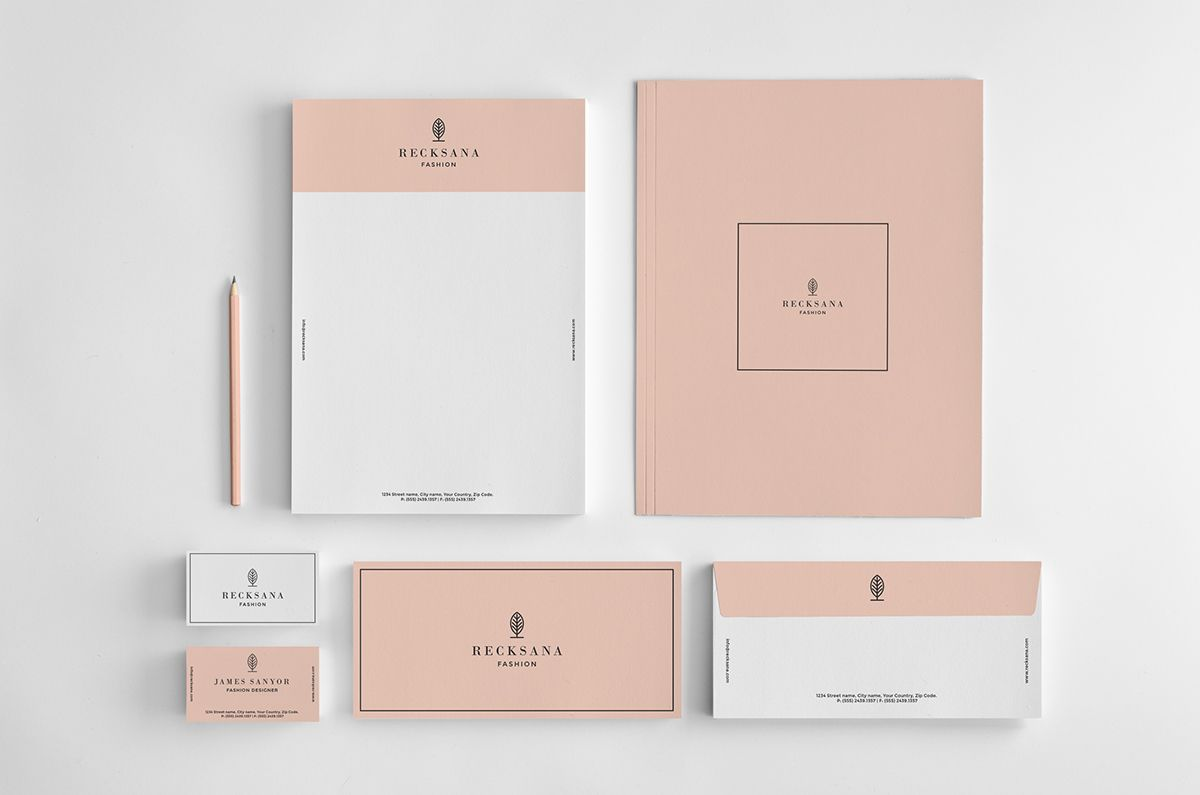 Recksana Fashion Is A Stylish Printable Business Stationery Set Not Includes Mockup Including Basic Bra Stationery Set Letterhead Business Letterhead Design