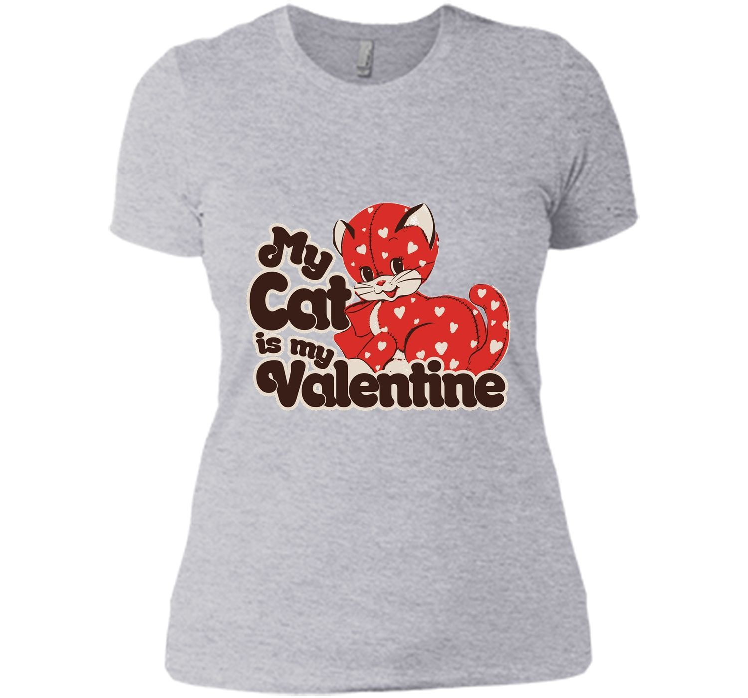 My Cat is my Valentine shirt cute Valentine's Day cats tee