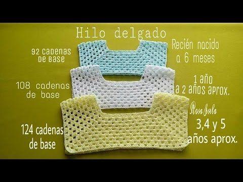 Canesu en crochet,todas las tallas. - Freeform Crochet #vestidosparabebédeganchillo