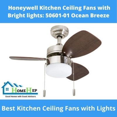 Honeywell Kitchen Ceiling Fans With Bright Lights 50601 01 Ocean Breeze Ceiling Fan Ceiling Fan In Kitchen Kitchen Ceiling Kitchen ceiling fan with bright light