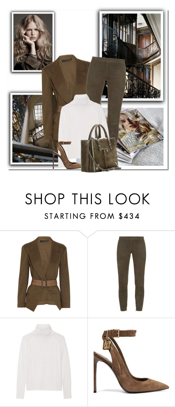"""""""lovelyhard"""" by namelif ❤ liked on Polyvore featuring TIBI, Donna Karan, Vince, Line, Tom Ford and Balenciaga"""