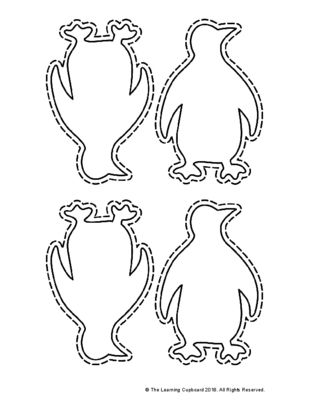 Winter Penguin Template Penguins and Template