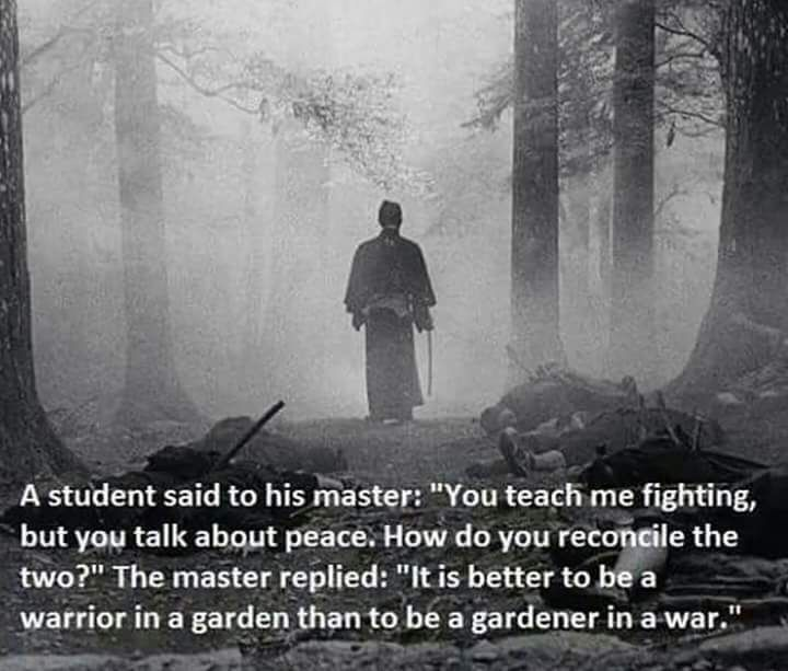 """Teach Peace Quotes: A Student Said To His Master: """"You Teach Me Fighting, But"""