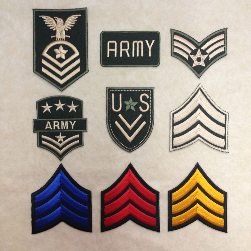 US ARMY MILITARY INSIGNIA BIKER RIDER IRON ON PATCH SEW