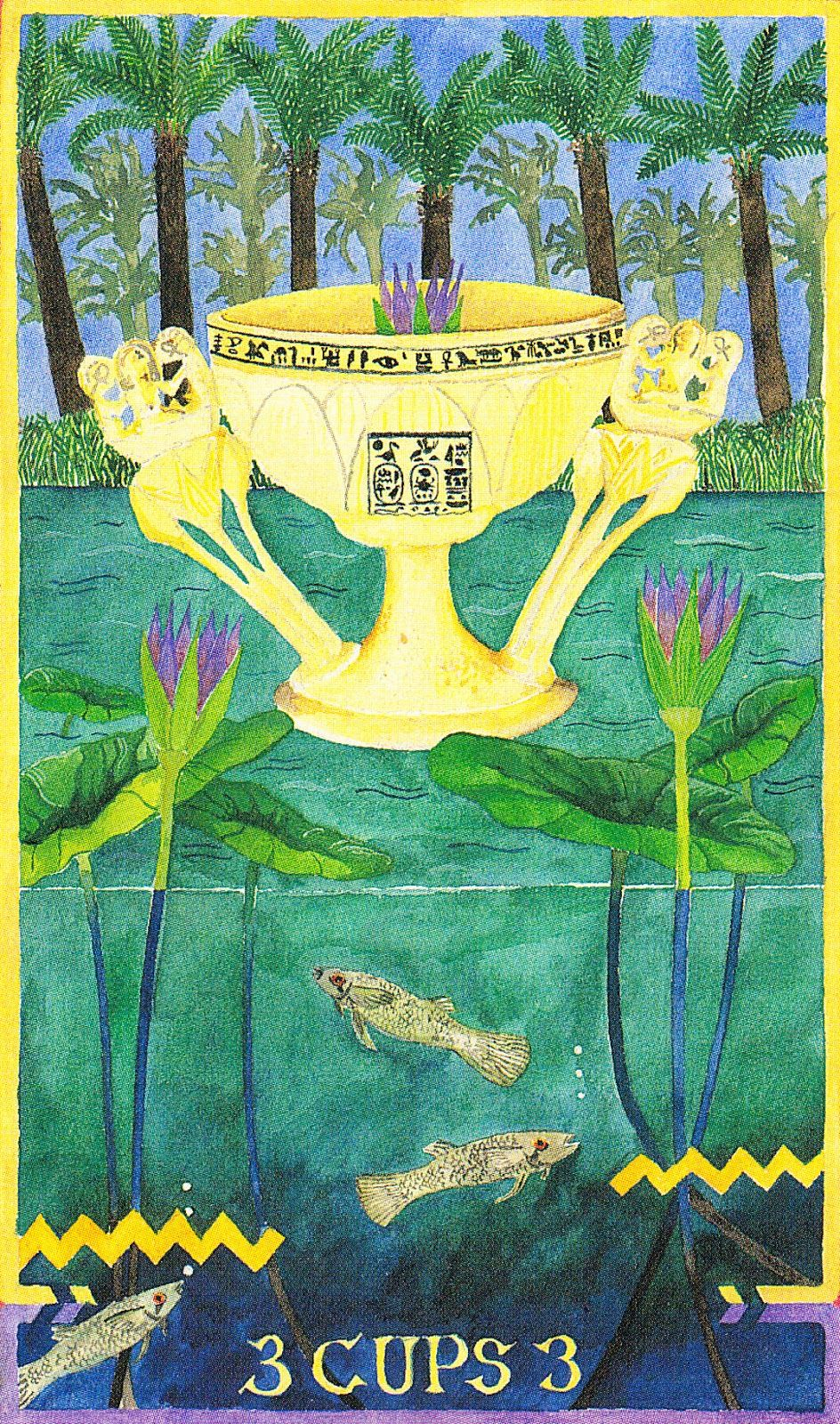 Image result for 3 of cups wheel of change tarot