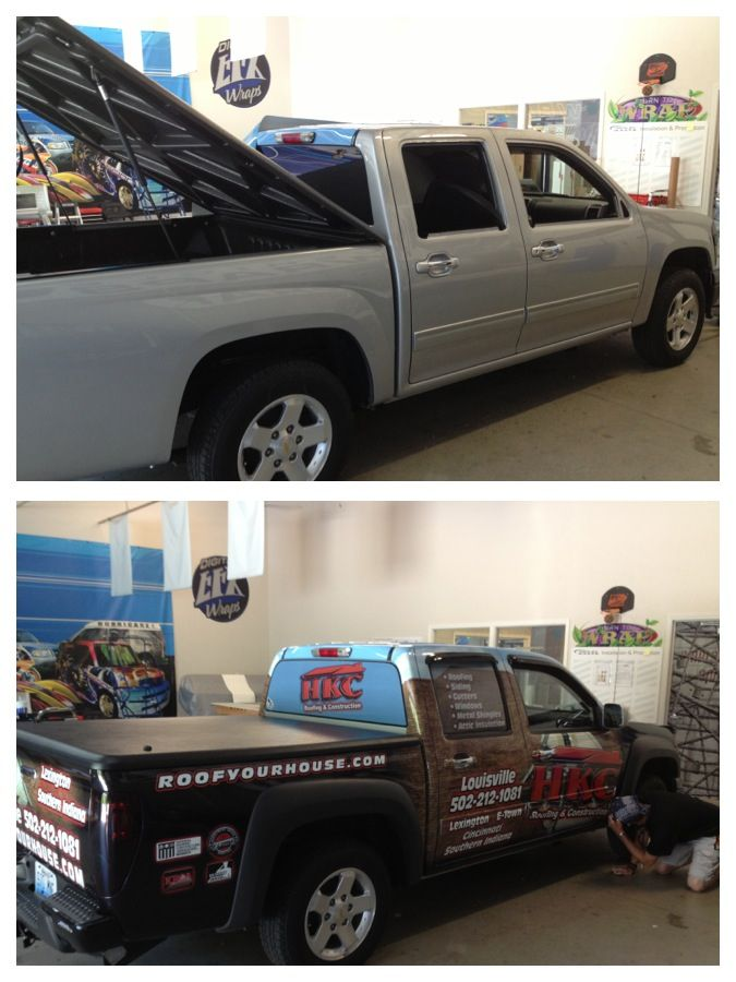 Hkc Roofing Chevy Colorado Wrap Done By Digital Efx Louisville Ky