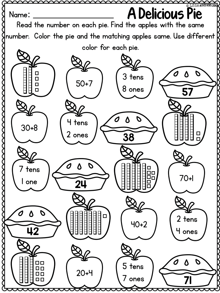 Printable Worksheets tally mark worksheets for first grade : Fall Activities for First Grade Math Worksheets and Literacy ...