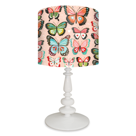 Pink butterflies bugs kids lamp design by katie daisy 138