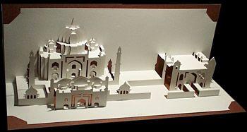 Taj Mahal Paper Sculpture
