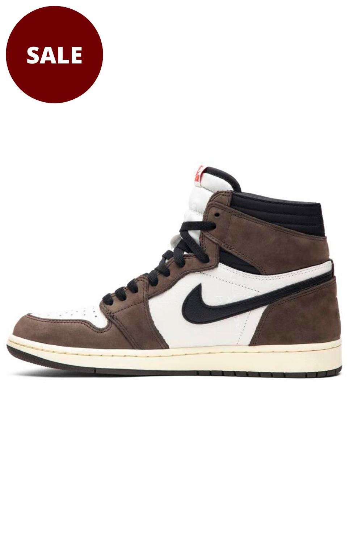 Travis Scott Jordan 1 Shoes Shop Nike X Travis Scott Forstep Style Air Jordans Brown Sneakers Shoes