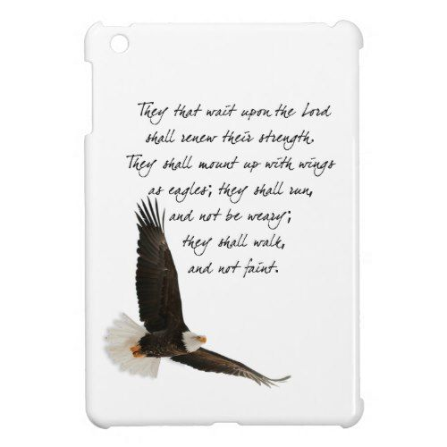 Wings As Eagles Isaiah 4o:31 iPad Mini Case