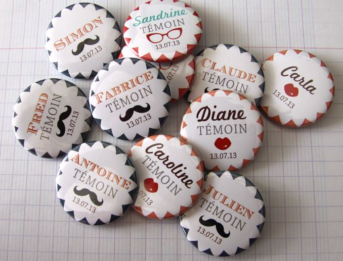 1000 images about badge mariage on pinterest bijoux factories and wedding badges - Badges Personnaliss Mariage
