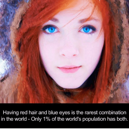 What Are The Rarest Hair And Eye Color Combinations Similiar Rarest Hair Eye Color Combination Keyword Red Hair Blue Eyes Woman With Blue Eyes Red Hair Woman