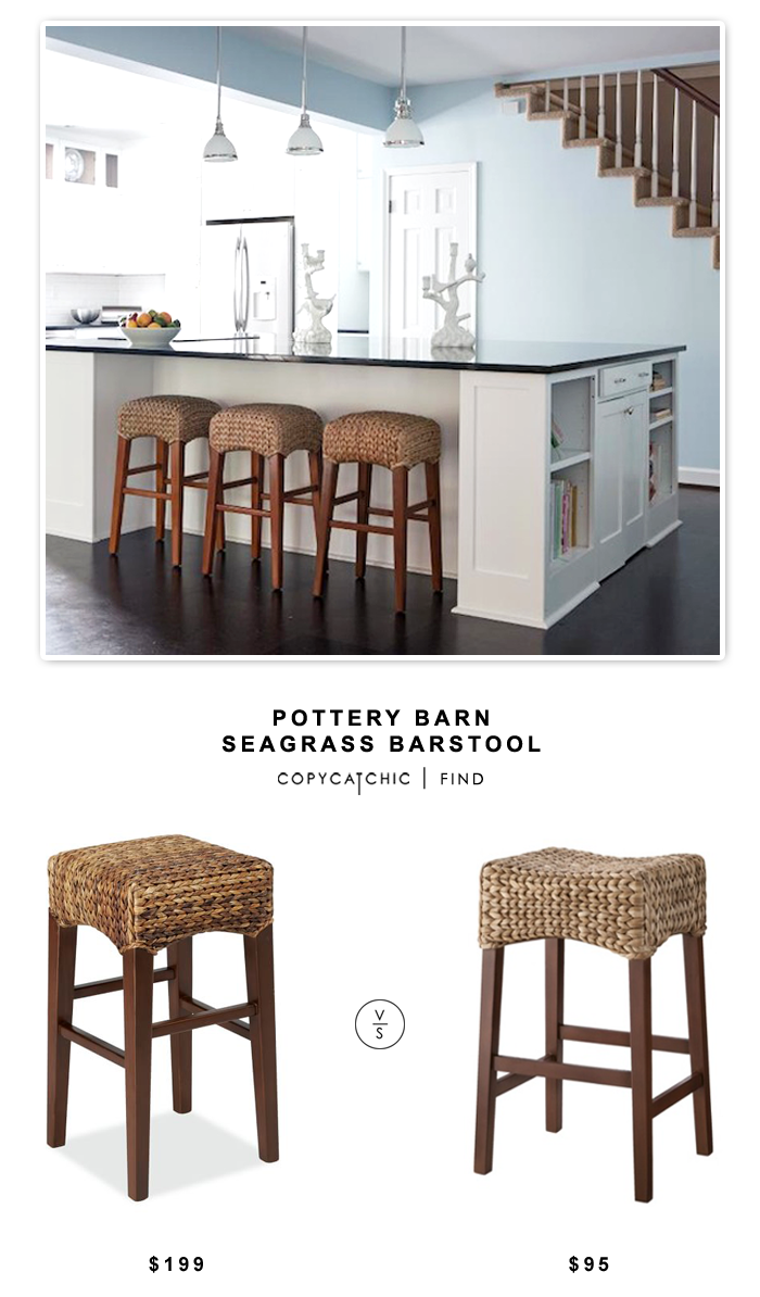 Pottery Barn Seagrass Barstool Copycatchic Barn Kitchen Pottery Barn Kitchen Bar Stools