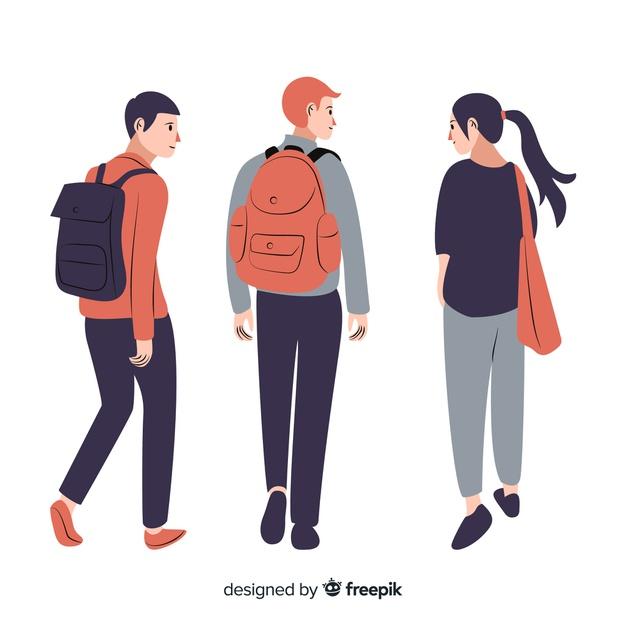 University Student People Illustration Illustration Character Design Character Illustration