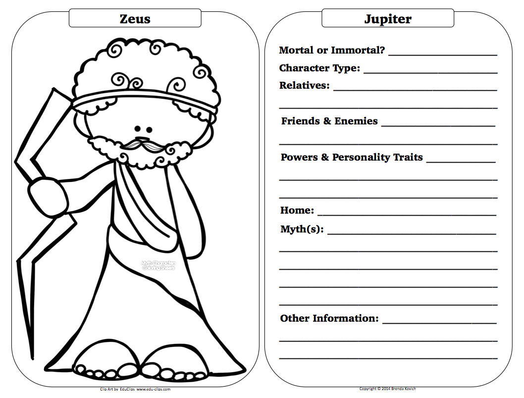 Teaching . . . Seriously: Greek Mythology Character Sheets   Greek mythology  characters [ 803 x 1058 Pixel ]