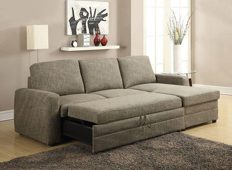 Best Acme 51645 Derwyn Storage Sleeper Sectional Sofa 740 The 400 x 300
