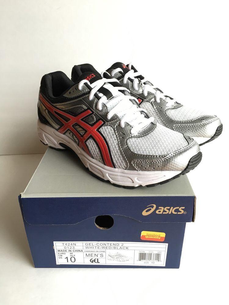 ASICS Men's Gel Contend 2 Running Shoe WhiteRedBlack 10 M